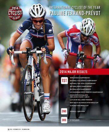 """Pauline élue """"cycliste internationale de l'année 2014"""""""