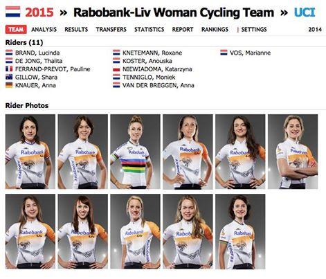 Rabo Liv Women Cycling Team 2015 !