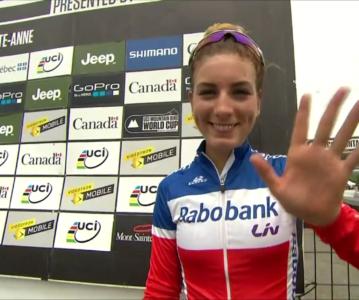 Nouveau podium pour Pauline lors de la coupe du monde VTT de Mont-St-Anne