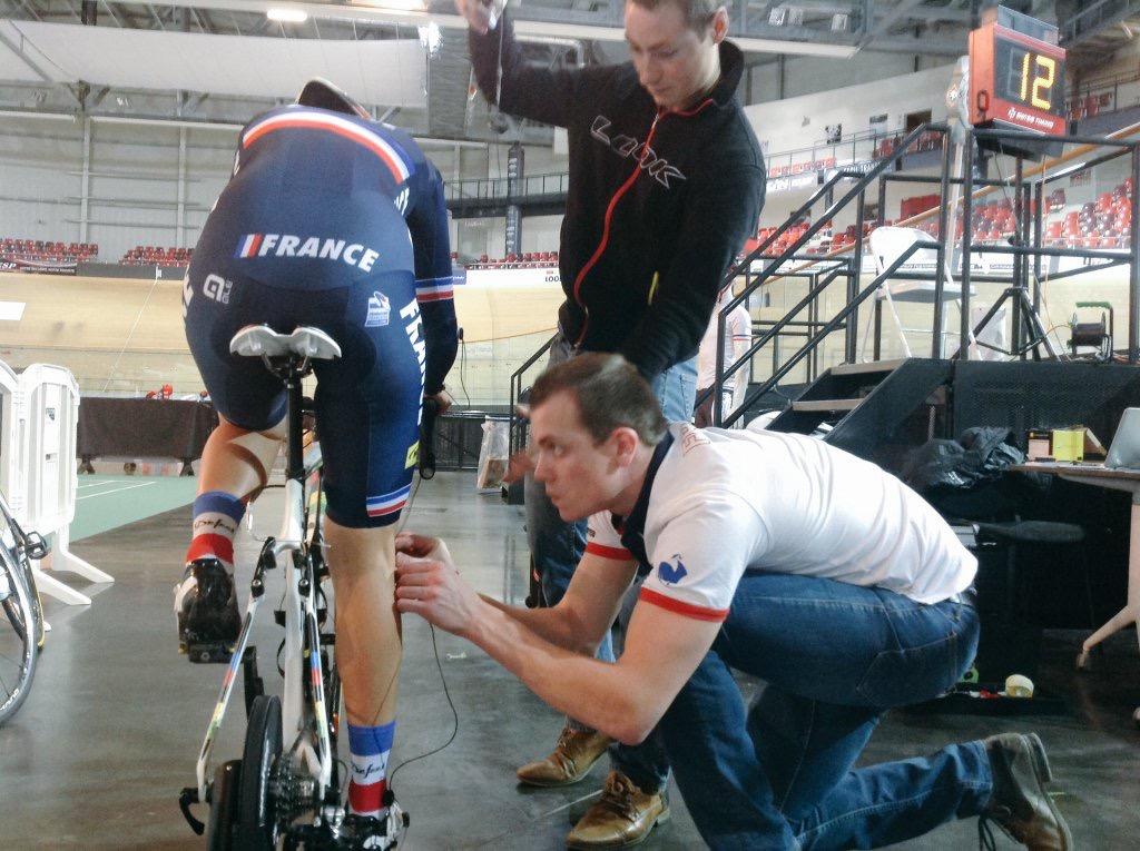 Stage Equipe de France au vélodrome national