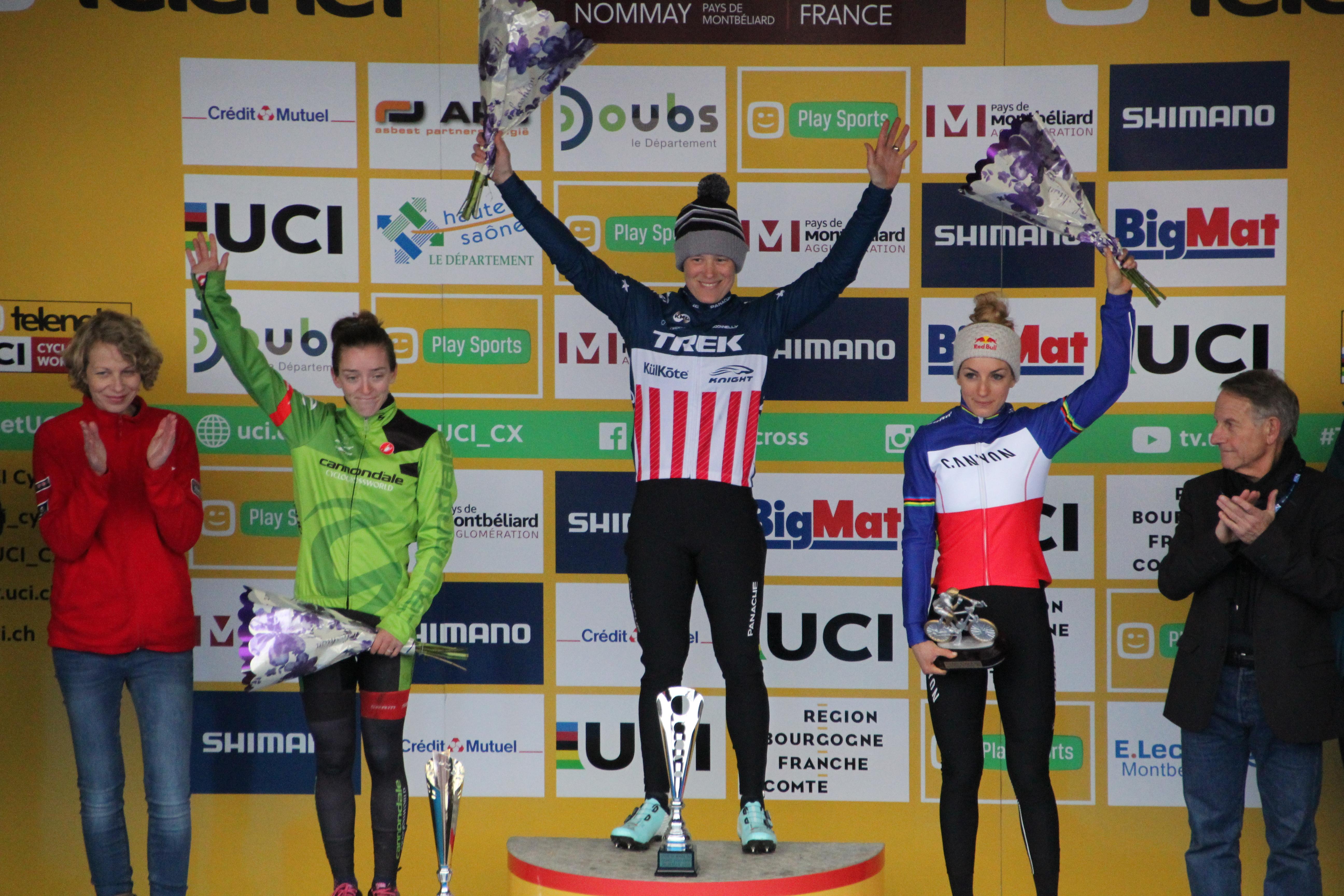Pauline retrouve le podium en coupe du monde CX