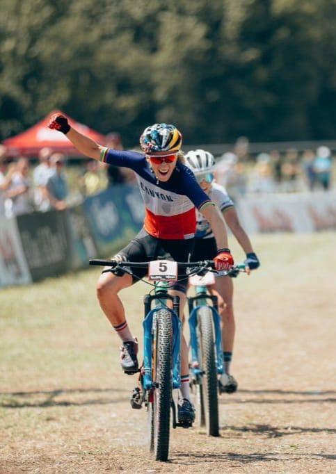Pauline remporte la manche de coupe du monde de Val Di Sole !!