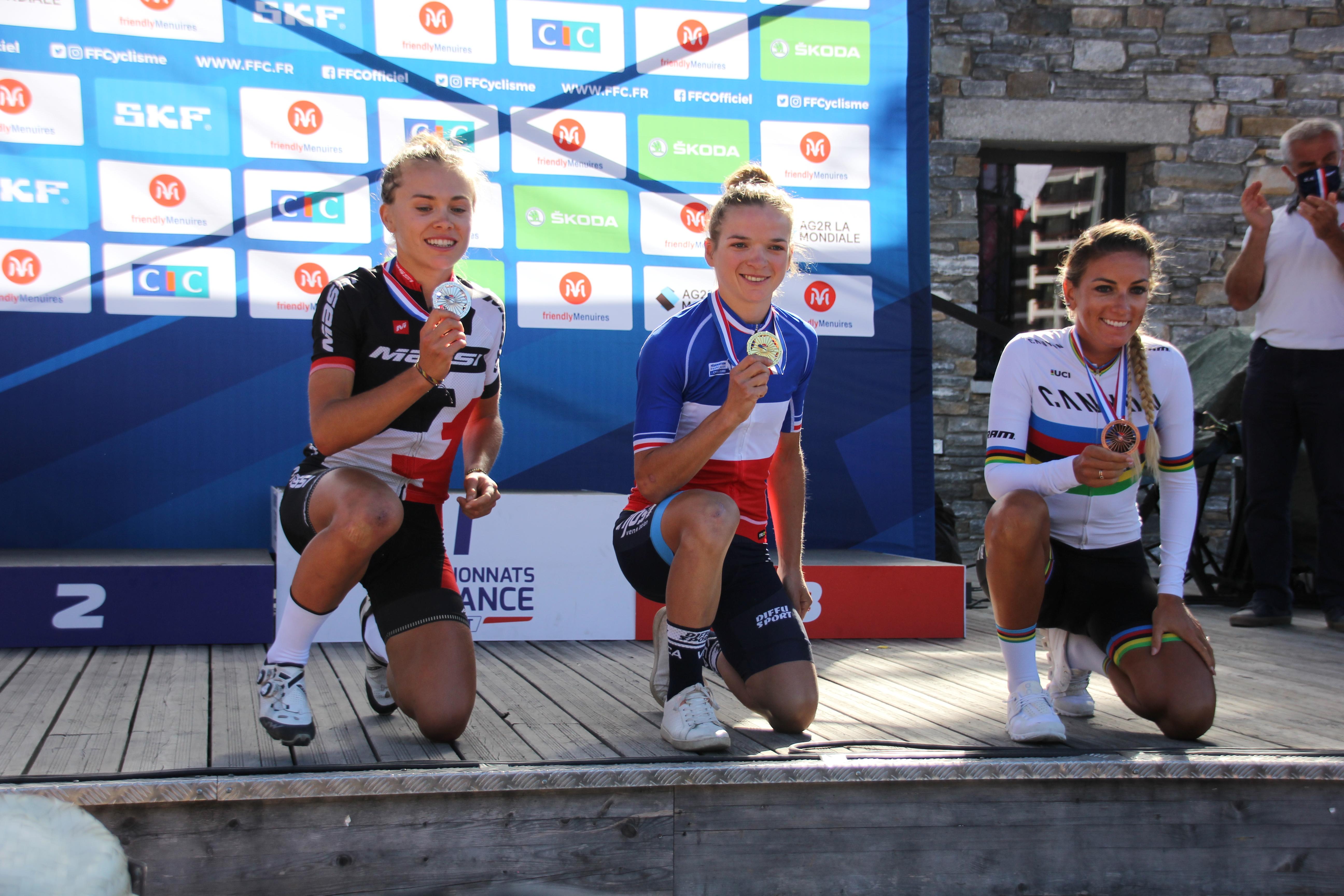 Médaille de bronze lors des championnats de France XCO aux Menuires
